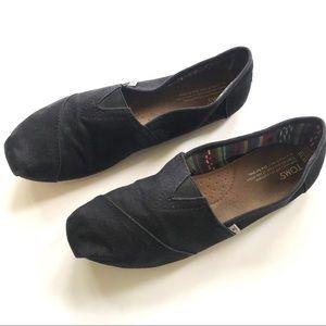 Tom's women's slip-on comfortable flats shoe sz 10